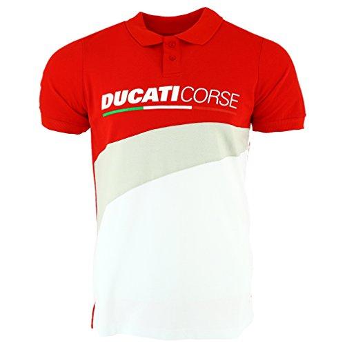Pritelli Polo Uomo Ducati Corse, Rosso, Taglia L