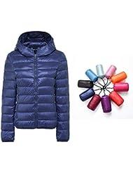 a64e23a269 Packable Down Jacket Women Hooded Ultra Lightweight Short Winter Jacket with  Carry-on Bag