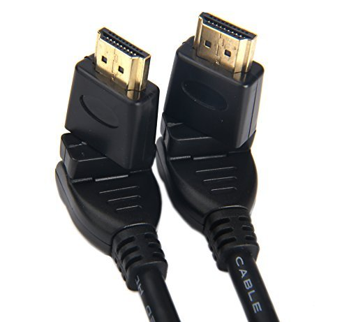 Stecker auf Stecker 360 Grad drehbar verstellbar rechts Links gewinkelt führen Kabel/drehbar HDMI Draht/vergoldet Kopf 1080P HD Screen Interface 3DTV HDMI Adapter 6,5 ft (2 m) ()