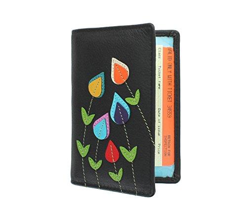 Mala Leder ASTOR Kollektion Leder Travel Pass / Oyster Card Holder 5114_95 Schwarz (Astor Leder)