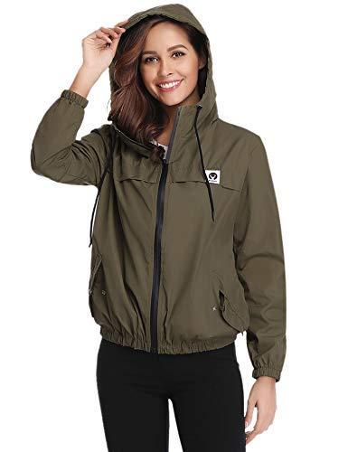 41ZRwFjtKtL - Abollria Women Rain Jacket Waterproof with Hood Lightweight Active Outdoor Windbreaker Raincoats