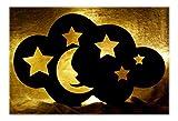 Sternenhimmel Nachtlicht Mond LED Kinderlampe - Batteriebetrieben für mehr Sicherheit im Kinderzimmer