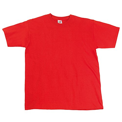 Fruit of the Loom Super Premium T-Shirt, maglietta, maglietta Large,Red