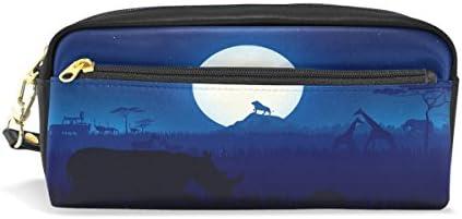 Eslifey Pochette portable en en en similicuir pour stylos écolier Motif forêt d'Afrique et paysage de nuit B07M5YPMPV | Digne  a9fdde