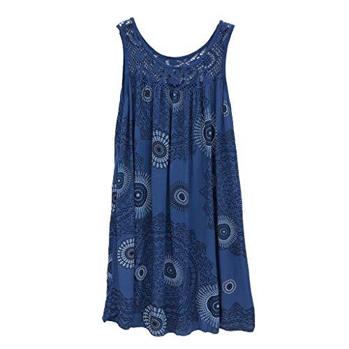 BOLANQ Damen Einfaches Kleider Basic Casual A-Linie Skaterkleid Freizeit Kleider FließEndes Kleid Langarm BeiläUfige Shirt Lose Rundhals Tunika