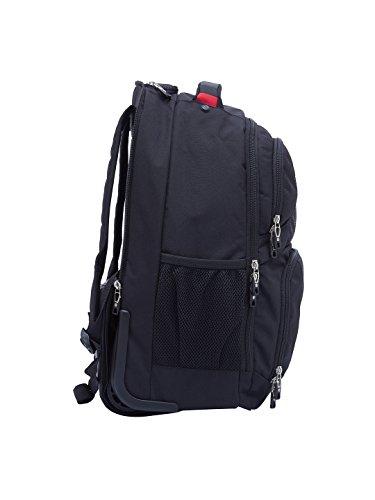 "Swiss Gear 18.5"" Rolling Computer Backpack 38 L Trolley Laptop Backpack (Black) Image 6"