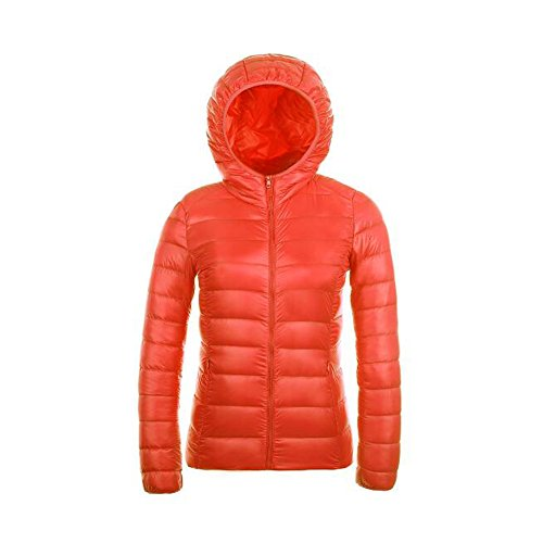 Ake Donna Packable Giacca con cappuccio Piumino Winter Outwear Puffer Down Giacche Orange