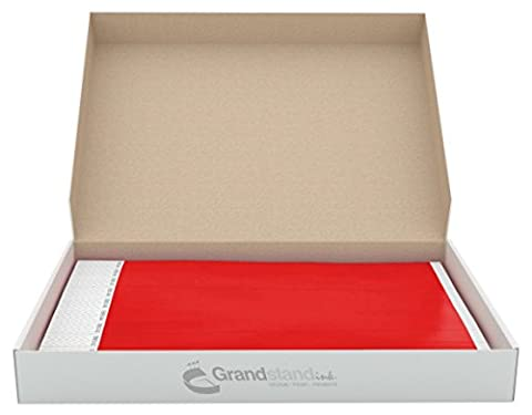 19mm Ultra Bright Red GrandstandStore.com Tyvek Event Wristbands for easy vip identification - 500CT BOX