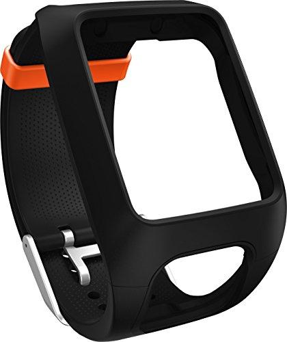 TomTom Wechselarmband für TomTom Spark 3, Spark, Runner 3, Runner 2, Adventurer GPS-Uhren, schwarz, Einheitsgröße, 9UR0.000.11