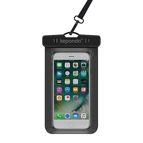 Kepondo wasserdichte Handyhülle Tasche Beutel, Schneegeschützt Tauchen, IPX8-zertifiziert (30m Tiefe), für iPhone X, 8, 8 Plus, 7, 7 Plus, Samsung Galaxy S9, S8, jedes Gerät bis zu 6.0