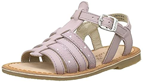 Aster Carly, Sandales Bout Ouvert Fille, Rose (Rose Lilas), 26