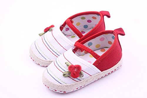 Bigood Liebe Blüte Baby Mädchen Schuh Lauflernschuhe Krabbelschuhe Rot