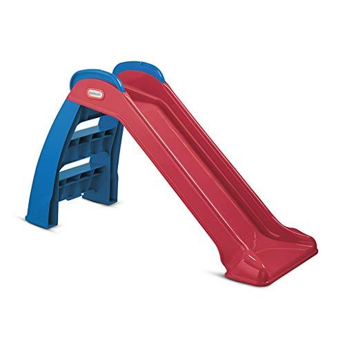 Abnehmbare Kleine Rutsche Indoor-Kletterspielzeug Für Kinder Faltbares Kombinationsspielzeug Gartenrutsche (Color : Red, Size : 118 * 71cm)