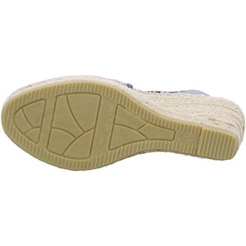 Vidorreta 18400 Damen Sandale seda lurex grafito