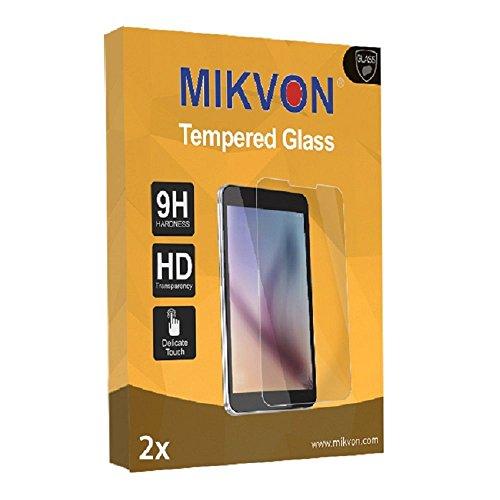 2x Mikvon flexible Tempered Glass 9H für HTC Rome Glas Folie Displayschutzfolie - Original Verpackung mit Zubehör