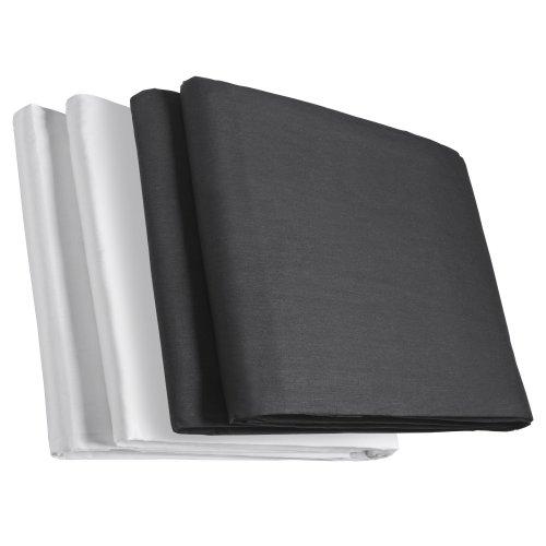 Walimex Doppelpack Stoffhintergrund schwarz/weiß