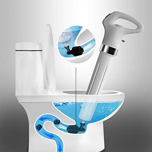 Toiletten Luft stößel, ABS-Kunststoff und Gummi für Toiletten, Waschbecken und Badewannen Saugglocke WC Plunger Toiletten Plunger mit 3 Verschiedenen Steckern und 1 Adapter (Weiß)