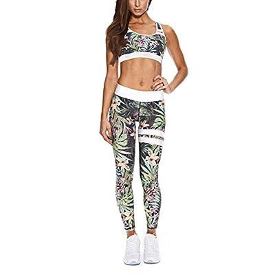 Inlefen Frauen Sport Anzug 2 Teil/Sätze BH + Leggings Elastizität Fitness Anzüge für Yoga, Laufen und Andere Aktivitäten