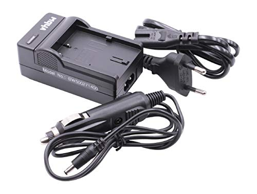 vhbw Ladegerät Ladekabel Netzteil inkl. Kfz-Lader für Canon EOS-, FV-, Media-, MVX-, Optura-, Powershot-, ZR-Serie -
