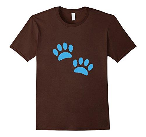 mens-paw-prints-emoji-t-shirt-dog-cat-animal-blues-paint-clues-2xl-brown