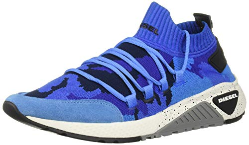 Diesel - Zapatillas de Cuero para Hombre, Color Azul, Talla 44.5 EU
