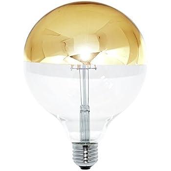 led filament globe g125 gl hbirne 8w 60w e27 kopfspiegel gold kvg warmwei beleuchtung. Black Bedroom Furniture Sets. Home Design Ideas