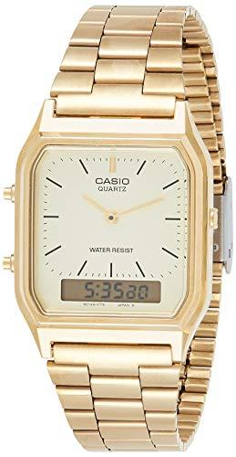 Casio Collection AQ-230GA-9DMQYES, Reloj Cuadrado, Unisex, Acero Inoxi