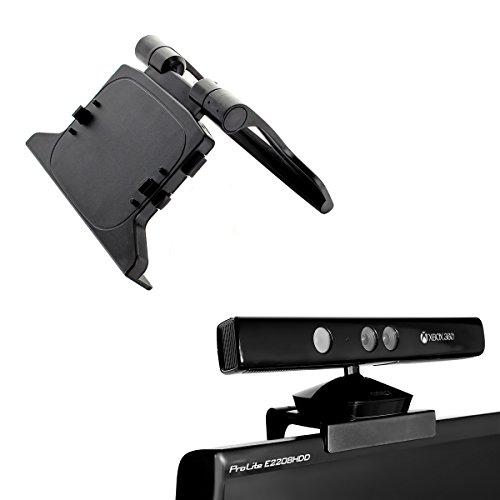 Xbox 360 Kinect Sensor Kamera - TV Clip Mount Halter Halterung Cliphalterung Standhalterung Cliphalter - passt für alle LCD, LED, Plasma-TVs (Sensor Kinect 360)