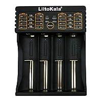 LiitoKala Battery Charger AA, AAA, C, CR123a, 18650