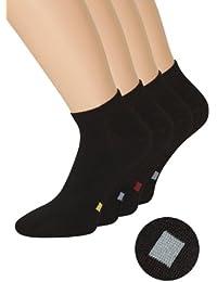 Herren Sneaker Socken schwarz in verschiedenen Varianten, 80% Baumwolle, Spitze Handgekettelt, 1 Paar oder 8 Paar