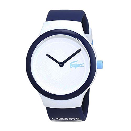 Lacoste Goa Unisex White Dial Silicone Band Watch - 2020123