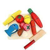 Woop Schneidebretter | Set mit Früchten | Schneideobst aus Holz | DIY Küche Vorgeben Spiel für Kinder 2 Jahre Alt und Oben