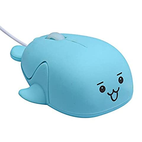 KEERADS Cute Cartoon Design Mice Portable USB 1200 DPI Wired Small Optical Mouse Desktop Mouse Laptop Mouse Tablet Mouse for Women Children Girls