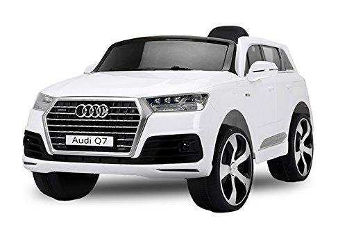 Kinder Elektro Auto Audi Q7 2x35W 2x6V Elektroauto Kinderfahrzeug Ferngesteuert Elektro (Weiss)