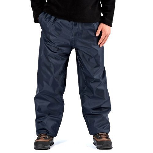 Pro Climate Hommes Imperméable Surpantalon Pac En Sac Storm Proof pluie Over pantalon, Bleu Marine, Medium