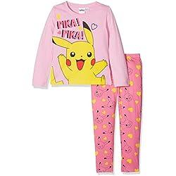 Pokemon Girl's Pikachu Pokemon Character Long Sleeve Pyjama Set, Pink, 5-6 Years (Manufacturer Size: 5-6)