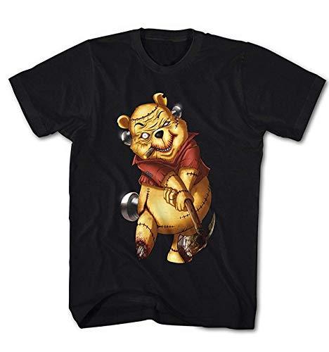 Herren T-Shirt Killer Pooh Cartoon Golf Teddy Bär