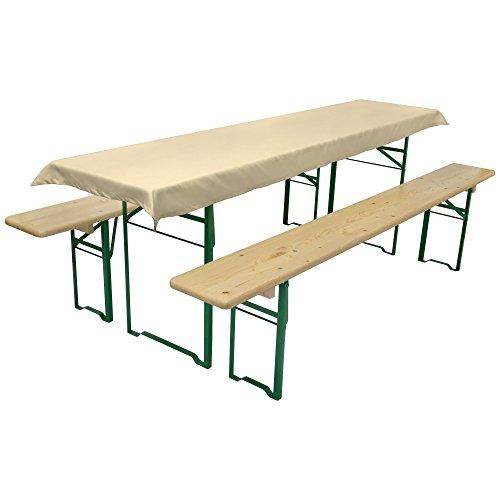 Beautissu Nappe pour table de brasserie - Table de Jardin - 90x240 cm - Ecru