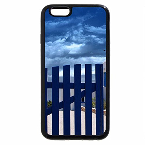 iPhone 6S / iPhone 6 Case (Black) greek windmill behind blue fence