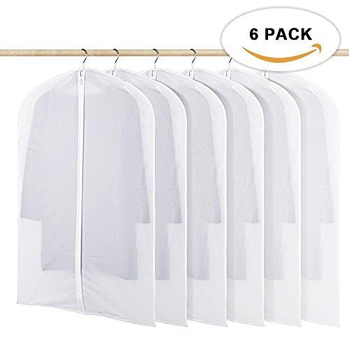 JMM 6Stück Kleidersack couveture transparent von Kleidung mit -