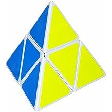 Pyraminx 2x2 Puzzle Cubo, LSMY Toy Blanco