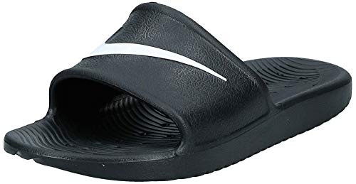 Nike Kawa Shower, Zapatos de Playa y Piscina para Hombre, Negro Black/White, 40 EU