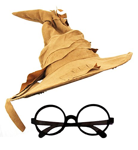 ILOVEFANCYDRESS - Set de sombrero de mago con gafas redondas
