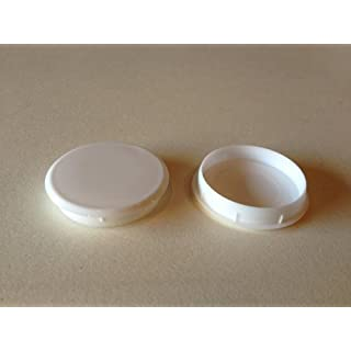 Hinge and Bracket Supplies 35Mm Hinge Hole Cover Caps 10 Pces White Colour For Kitchen Cabinets