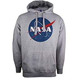 Nasa Circle Logo Capucha, Gris (Grey Marl SPO), Medium para Hombre