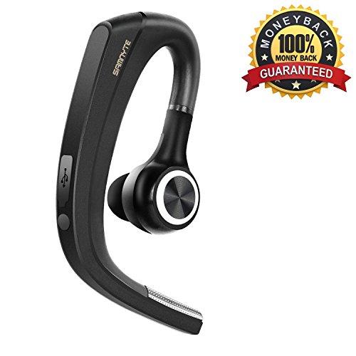 [Neu] Bluetooth Headset, 4.1 In Ear Funk Ohrhörer Handy Kabellos Sport Kopfhörer mit Rauschunterdrückung Stummschalttaste Freisprecheinrichtung Mikrofon Auto Surround Headsets für Büro/Geschäft/Fahren/ für iPhone Samsung Android von Samnyte