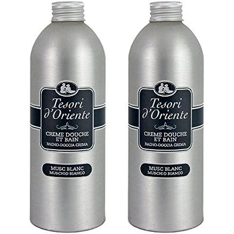 Tesori d'Oriente gel / crema de ducha / baño Tonic White Musk 500 ml - Lote de 2