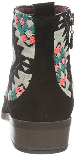 Desigual Black Indian Boho, Stivali Chelsea Donna Nero