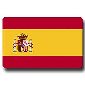 Kühlschrankmagnet Flagge Spanien – 85×55 mm – Metall Magnet mit Motiv Länderflagge Spanien für Kühlschrank Reise Souvenir