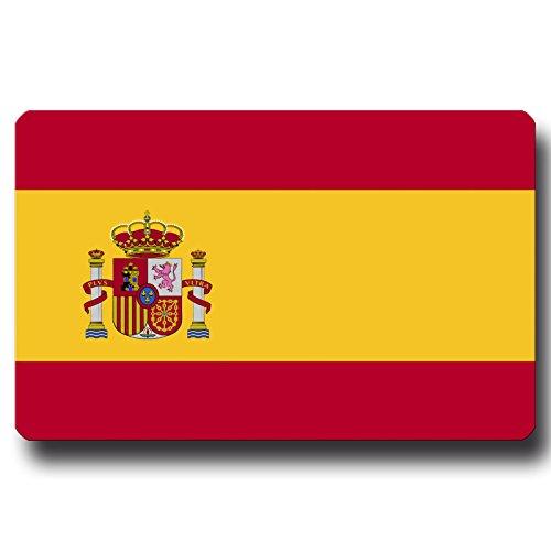 Kühlschrankmagnet Flagge Spanien - 85x55 mm - Metall Magnet mit Motiv Länderflagge Spanien für Kühlschrank Reise Souvenir -